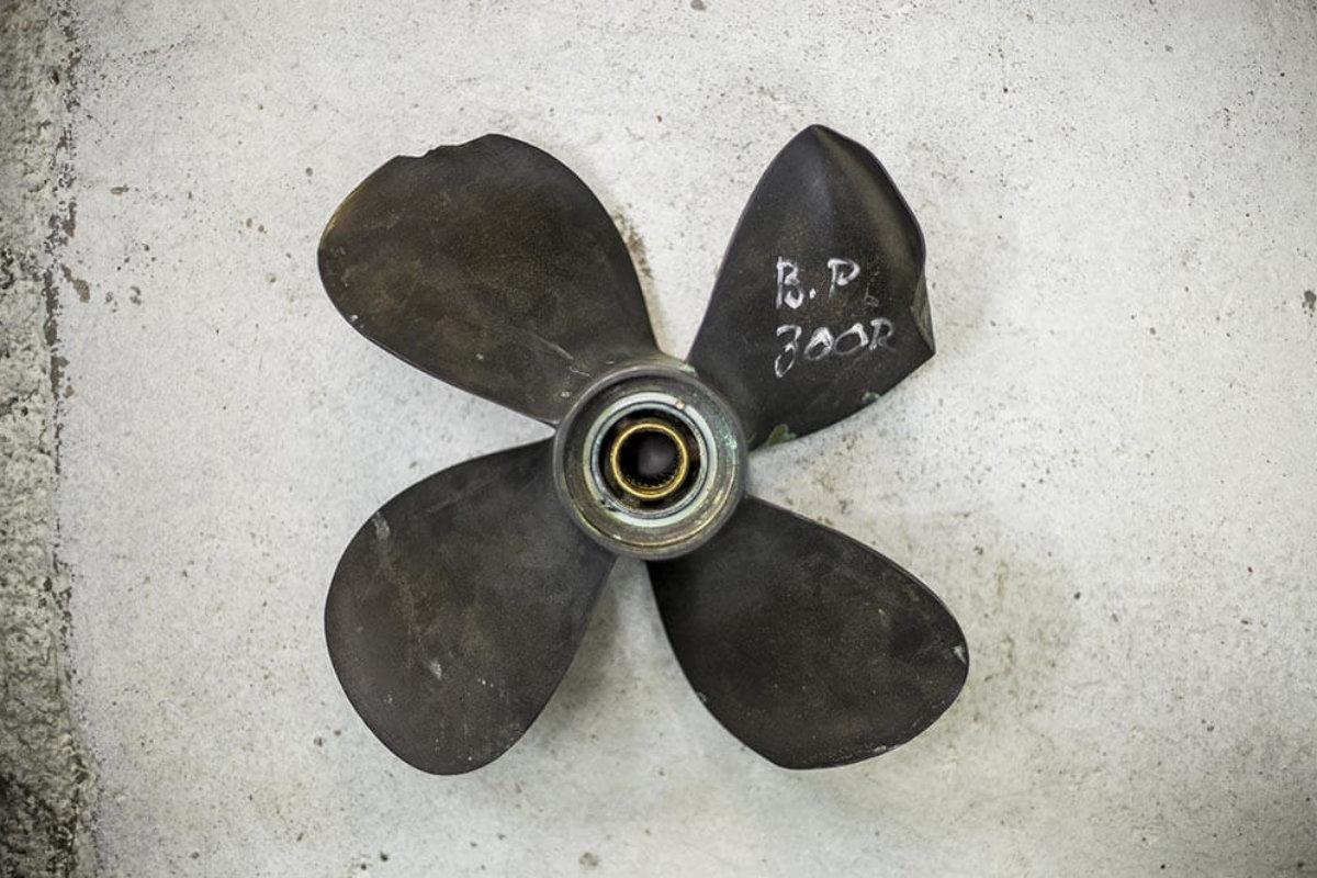 En feloptimerad propeller sliter mer