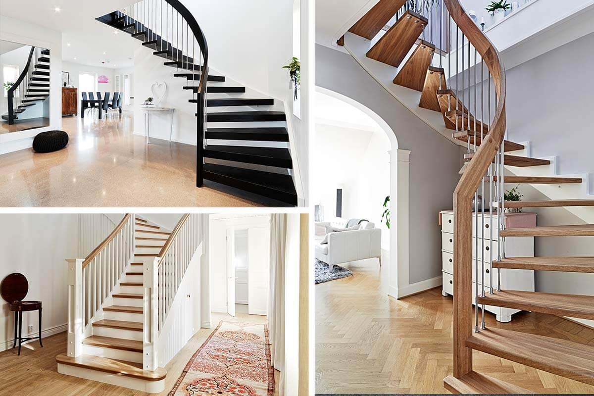 tre olika trappor